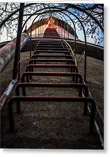 Greeting Card featuring the photograph Climb Away by Matti Ollikainen