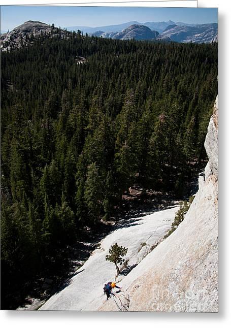 Climber In Yosemite Greeting Card