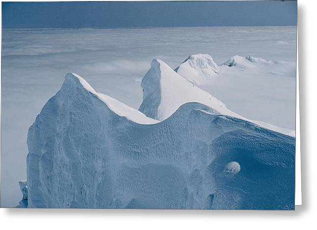 Climbers Approach The Summit Greeting Card by Gordon Wiltsie