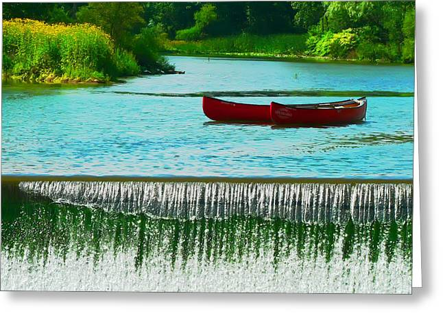 Clinton Canoes Greeting Card by Artistic Photos