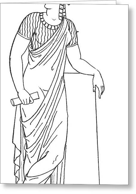 Clio, Muse Of History Greeting Card by Granger