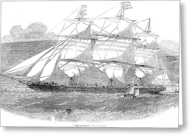 Clipper Ship, 1853 Greeting Card by Granger