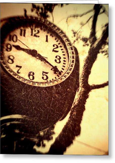 Clock In San Francisco  Greeting Card by Susan Stone