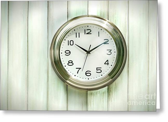 Clock On The Wall Greeting Card