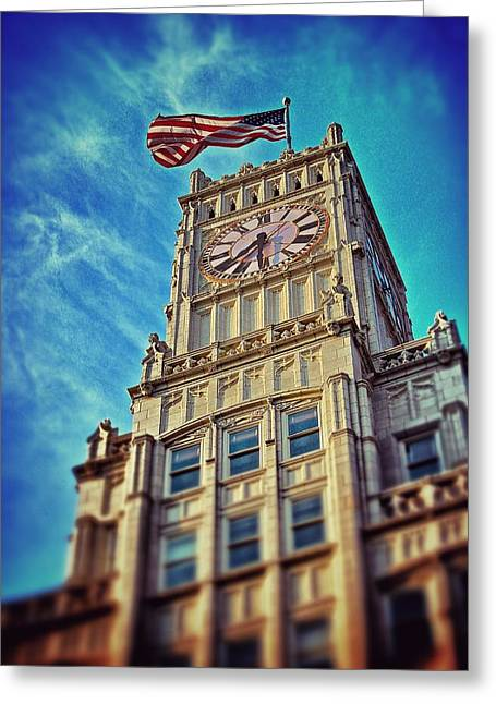 Greeting Card featuring the photograph Clock Tower In Downtown Jackson 1 by Jim Albritton