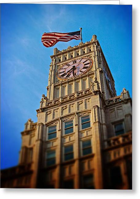 Greeting Card featuring the photograph Clock Tower In Downtown Jackson 2 by Jim Albritton
