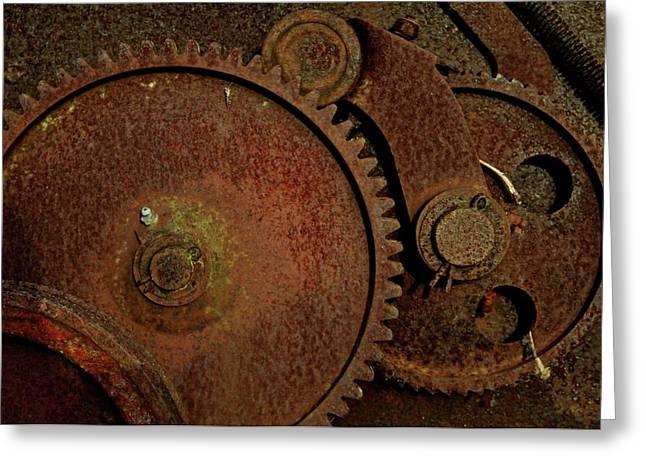 Clockwork Rust Greeting Card by Odd Jeppesen