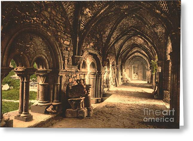 Cloister At St. Bavon Abbey Greeting Card by Padre Art