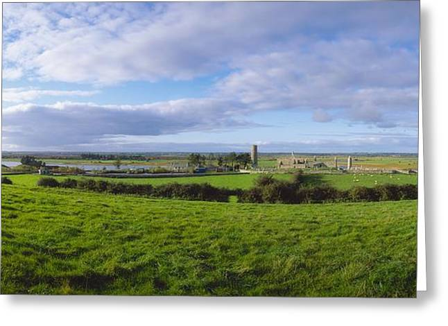 Clonmacnoise, Co Offaly, Ireland Greeting Card by The Irish Image Collection