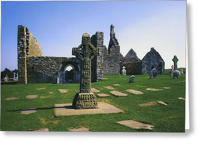 Clonmacnoise, Co Offaly, Ireland, West Greeting Card by The Irish Image Collection