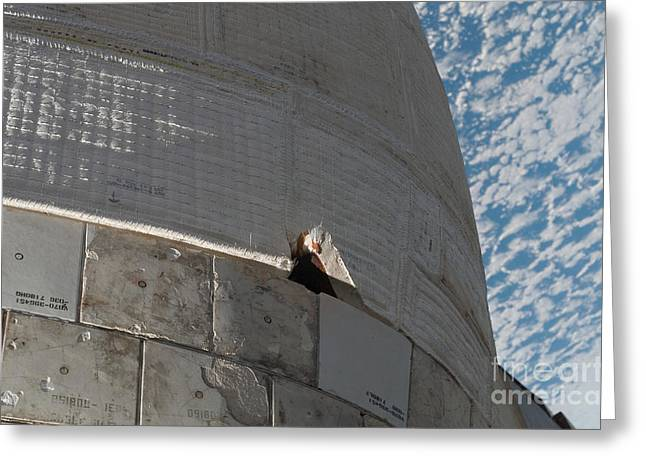 Close-up Of Space Shuttle Atlantis Greeting Card