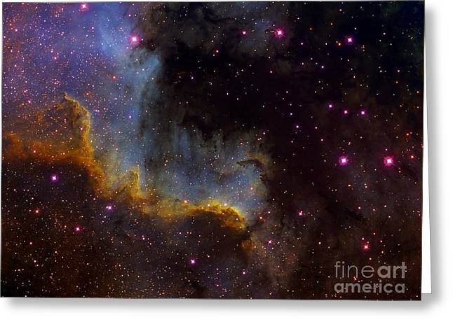 Close-up View Of North America Nebula Greeting Card by Filipe Alves