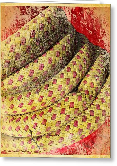 Close View Of Winch In Portmagee Ireland Greeting Card