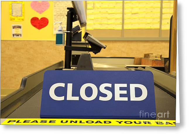 Closed Checkout Aisle Greeting Card