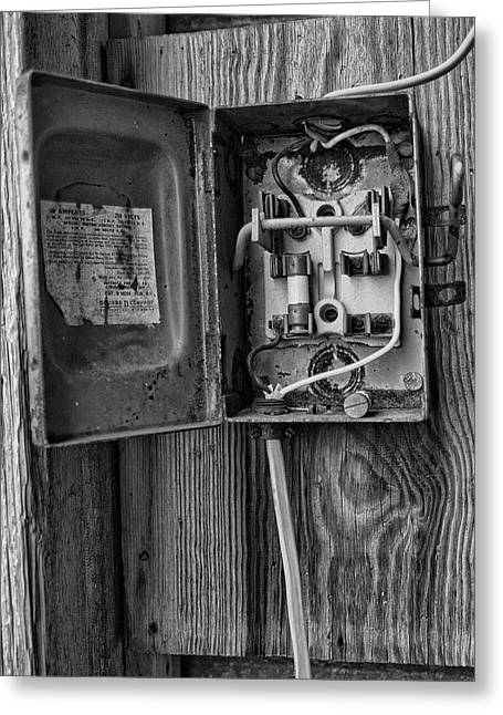 Closed Circuit Greeting Card by Michael Flood