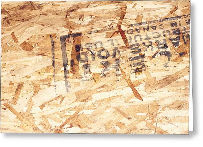 Closeup Of Plywood Greeting Card