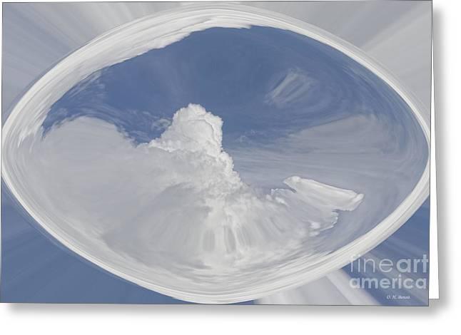 Cloud Art Greeting Card by Deborah Benoit