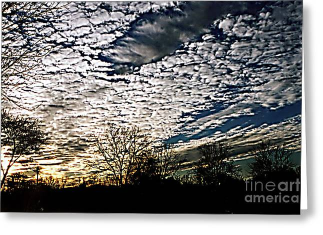Cloud Blanket Sunset Greeting Card