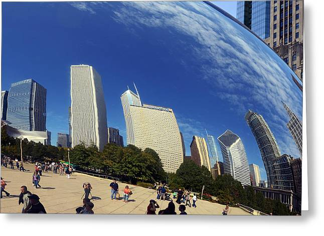 Cloud Gate Millenium Park Chicago Greeting Card by Christine Till