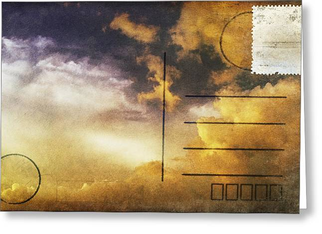 Cloud In Sunset On Postcard Greeting Card by Setsiri Silapasuwanchai
