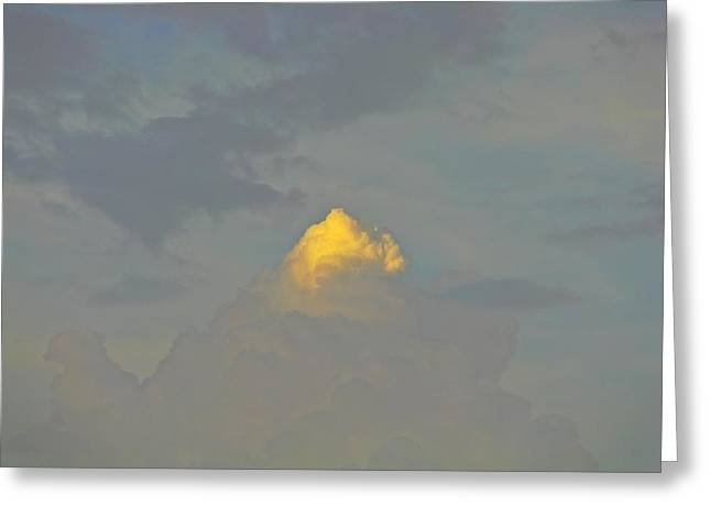 Cloud Of Glory Greeting Card by Peter P G