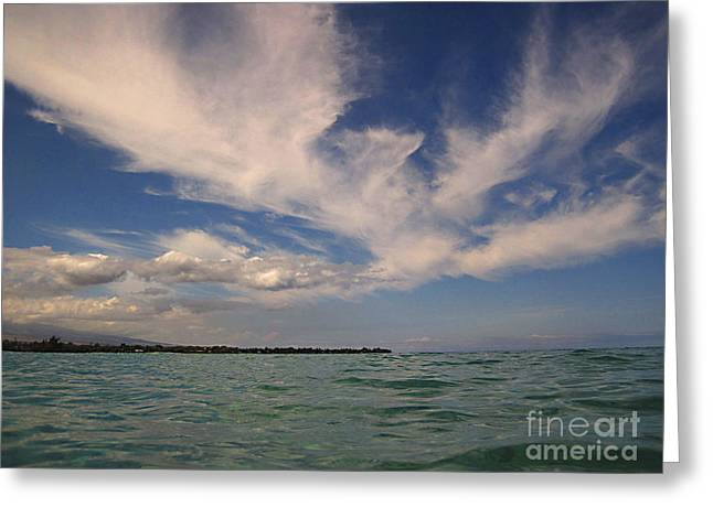 Greeting Card featuring the photograph Cloud Patterns Over The Pacific by Bette Phelan