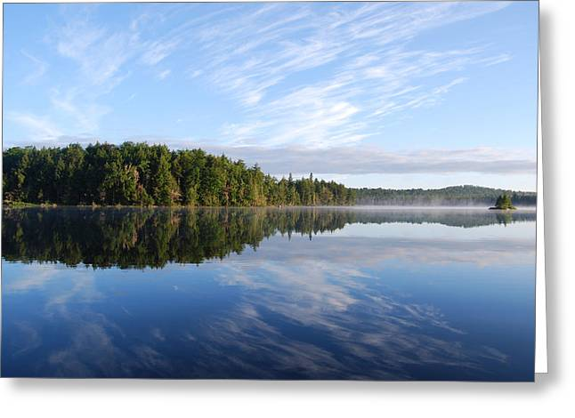 Cloud Reflections Greeting Card by Kim French