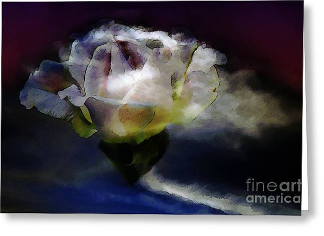 Greeting Card featuring the photograph Cloud Rose Painterly by Clayton Bruster