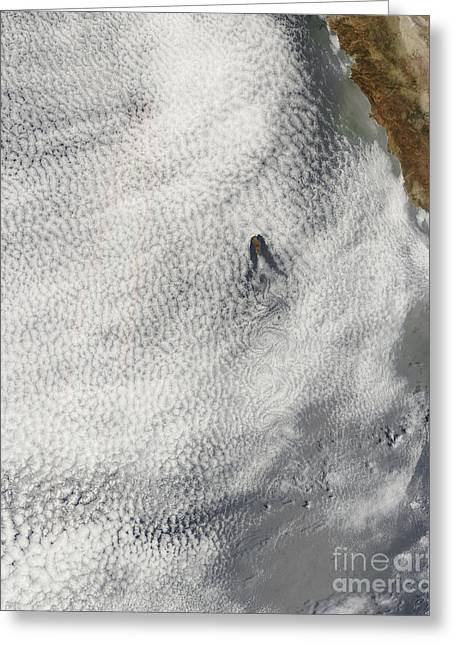 Cloud Vortices And Glory Off Guadalupe Greeting Card