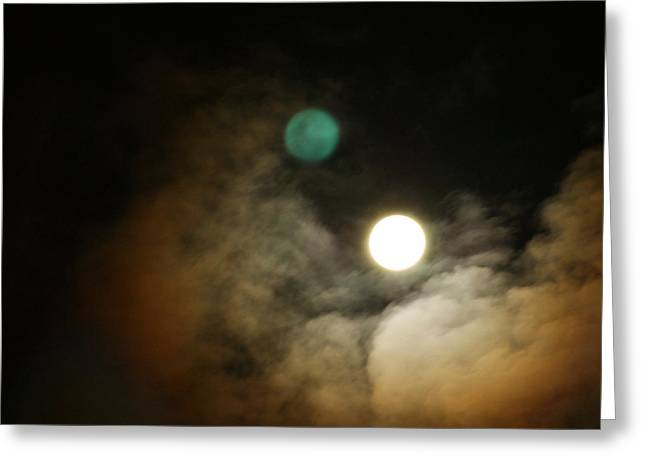 Clouded Moon Greeting Card by Steve Sperry