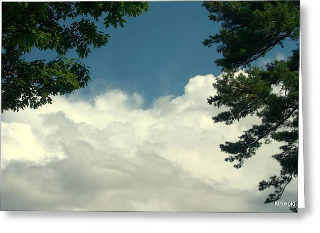 Clouds At Malletts Bay Greeting Card by Mark Holden