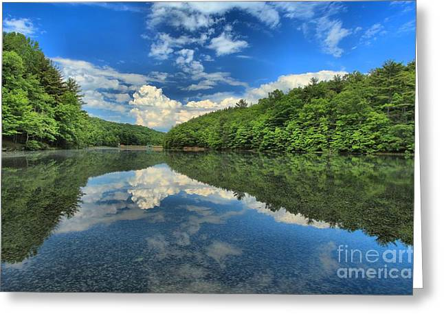 Clouds In The Lake Greeting Card by Adam Jewell