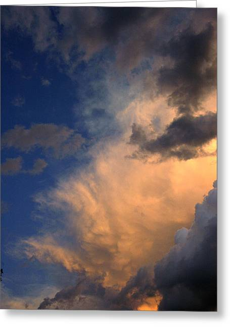 Clouds In The Spring Sky Greeting Card