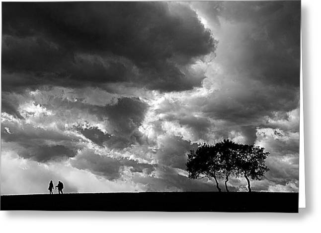 Greeting Card featuring the photograph Clouds by Okan YILMAZ
