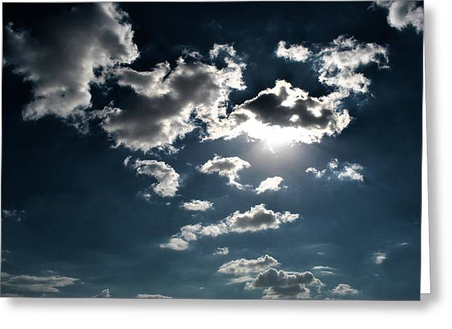 Clouds On A Sunny Day Greeting Card by Sumit Mehndiratta