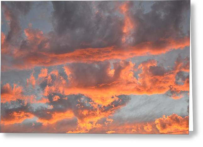 Clouds On Fire Greeting Card by Kevin Bone