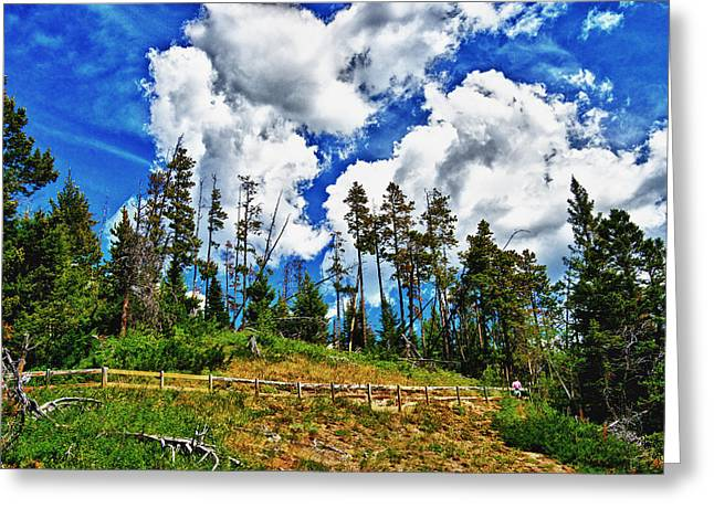 Clouds On My Hill Canada Greeting Card by Rick Bragan