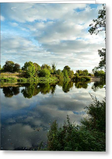 Clouds On The River Greeting Card