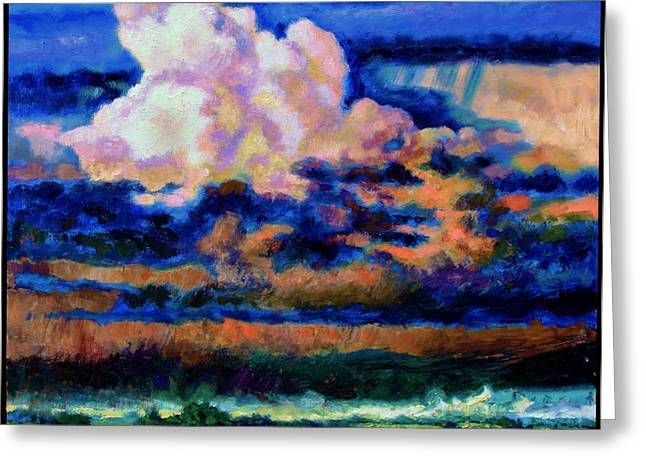Clouds Over Country Road Greeting Card by John Lautermilch