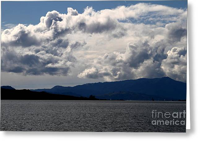 Clouds Over Mount Tamalpais . 7d13713 Greeting Card by Wingsdomain Art and Photography