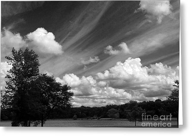 Clouds Over The Lake 1 Greeting Card