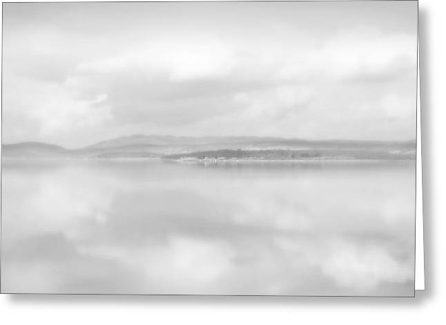 Clouds Over Water Greeting Card by Barry Hayton