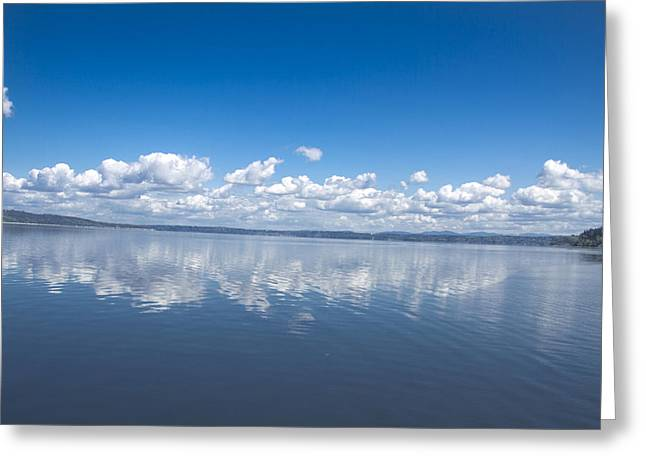 Clouds Over Water Greeting Card by Julie Smith