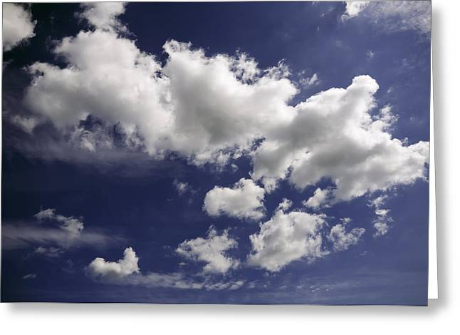 Clouds Greeting Card by Paul Plaine