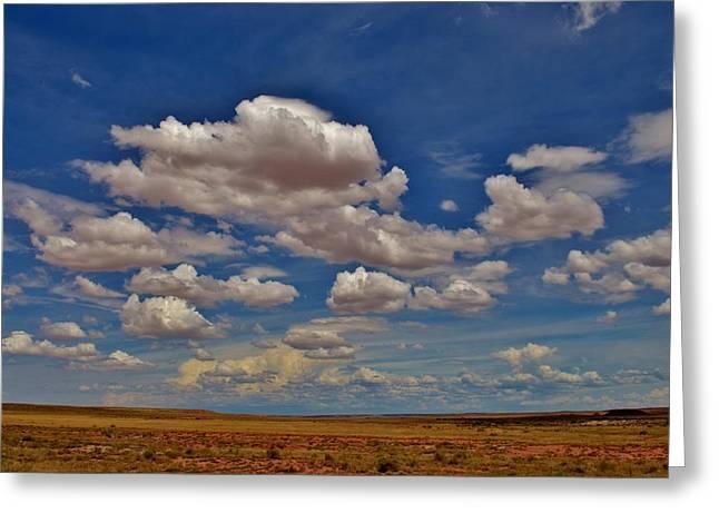 Clouds Greeting Card by Sara Edens