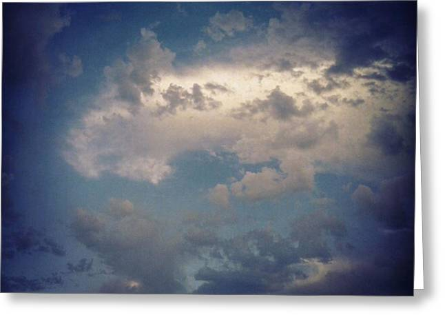 #clouds #sky #nature #andrography Greeting Card by Kel Hill