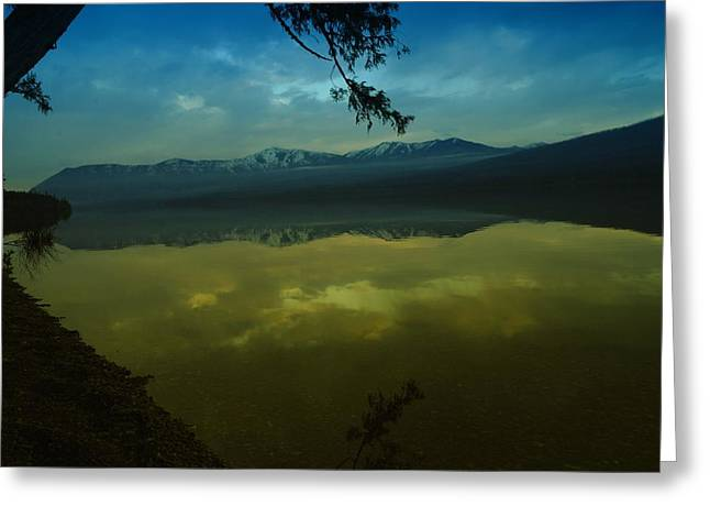 Clouds Trying To Dance In Still Water Greeting Card by Jeff Swan