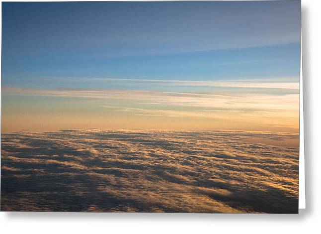 Cloudscape From A 757 Greeting Card by David Patterson