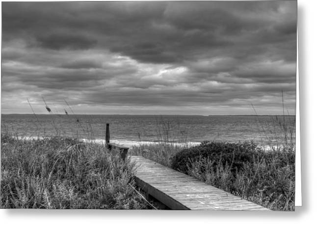 Cloudy Day In Paradise Greeting Card by David Paul Murray
