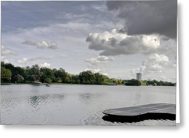 Greeting Card featuring the photograph Cloudy Hyde Park by Maj Seda